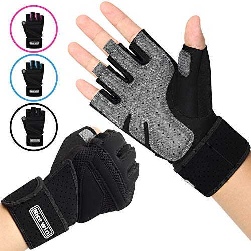 NICEWIN Unisex Padded Weight Lifting Gloves