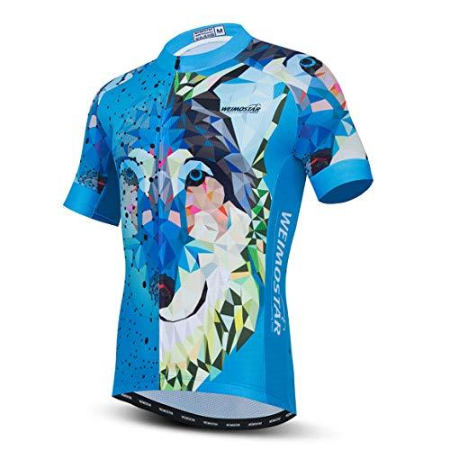 PSPORT Uomini Ciclismo Jersey Manica Corta Vestiti Della Bicicletta Traspirante Mtb Camicia Estate Mountain Bike Abbigliamento Quick Dry, Uomo, CF0343, L