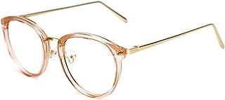 Vintage Round Metal Optical Eyewear Non-prescription Eyeglasses Frame for Women
