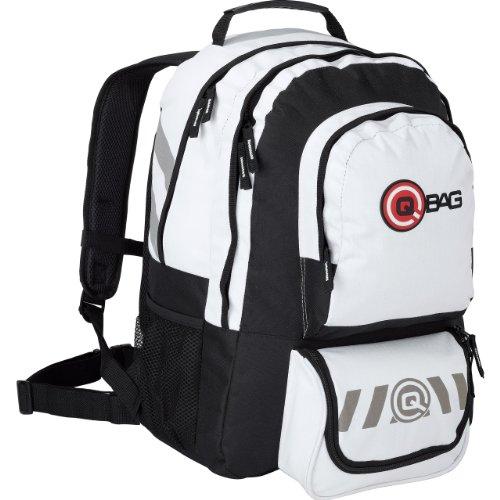 QBag Motorrad Rucksack Herren und Damen Fahrradrucksack Daypack groß für Damen & Herren in weiß