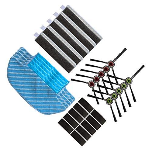 Jarhit Roboter Staubsauger Mop TüCher BüRsten Filter für DEEBOT OZMO Slim 10 Roboter Staubsauger Lumpen Teile Zubeh?R