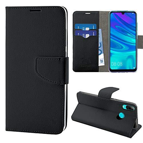 NewTop Cover Compatibile per Huawei P Smart 2019/Plus/Honor 10 Lite, HQ Lateral Custodia Libro Flip Magnetica Portafoglio Simil Pelle Stand (per P Smart 2019/Honor 10 Lite, Nero)