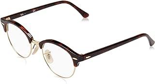 Unisex RX4246V Clubround Eyeglasses Red Havana 47mm