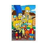 JTYK The Simpsons Zeichenposter auf Leinwand, Kunst-Poster