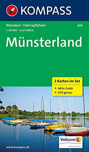 Münsterland: Wanderkarten-Set mit Radrouten und Aktiv Guide. GPS-genau. 1:50000 (KOMPASS-Wanderkarten, Band 849)