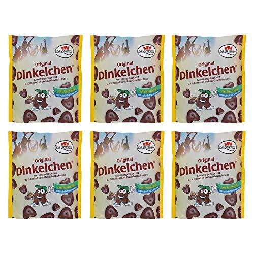6er Pack Dr. Quendt Dinkelchen Vollmilch (6 x 85 g) Knabbergebäck Knabbersnack Knuspersnack DDR Ostprodukt
