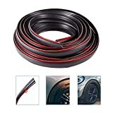 Cpwuflyd Fender Flares Edge Trim - 32.8 Feet Length Rubber Gasket Welting T-Style Fender Flares Seal for Car and Truck Wheel Wells