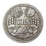 Diecast master Sí o No Cráneo Moneda Conmemorativa Recuerdo Desafío Colección de Monedas Coleccionables Arte Artesanal Adornos de Letras J9K