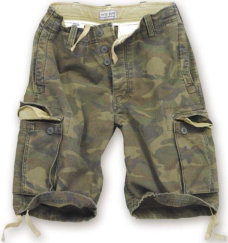 Surplus Vintage Short pour Homme Motif Camouflage, Vert, Homme, Vintage Shorts, XL