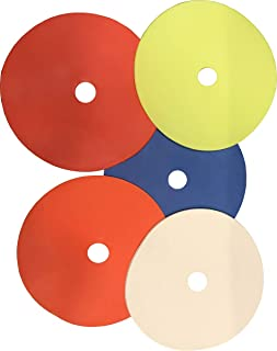 Set of 50 Flat Rubber Disc Spot Markers Cones 6 Diameter Free Carry Bag