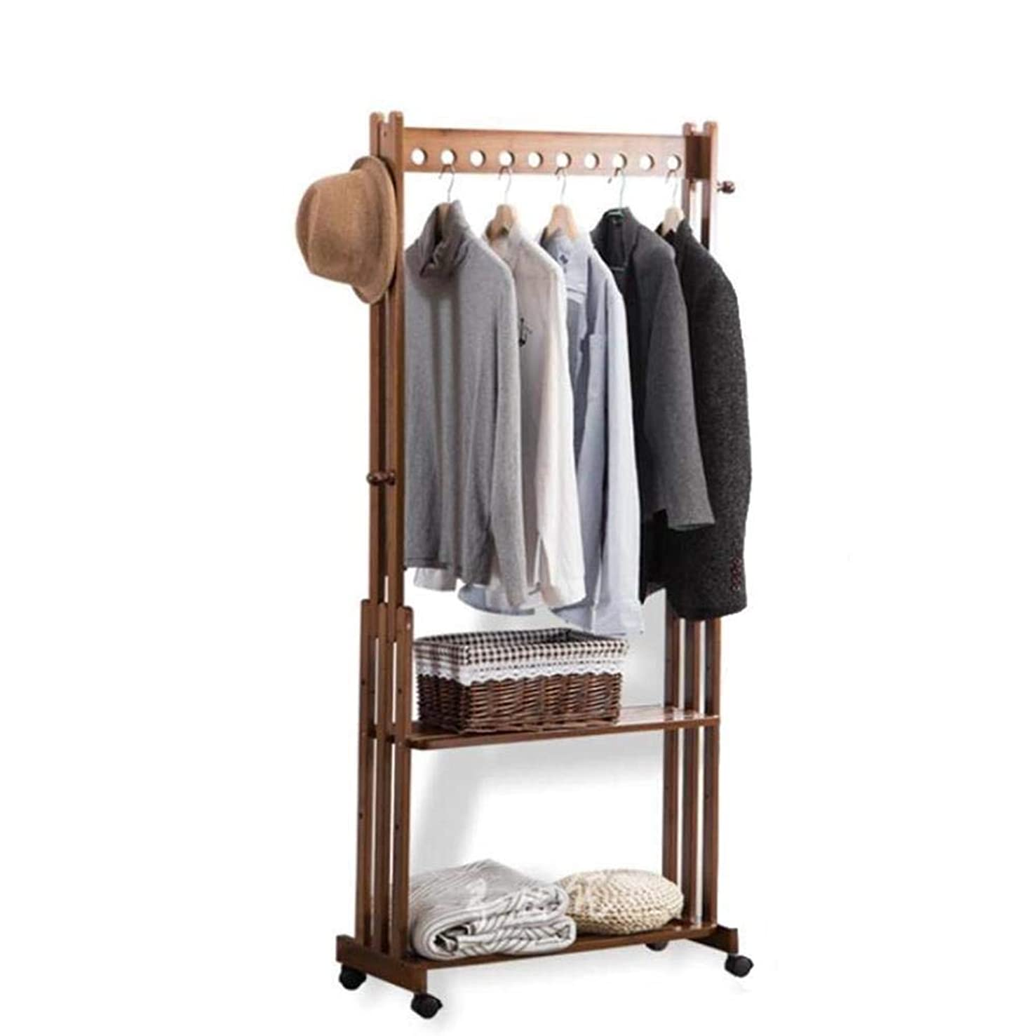 れんが社会主義居心地の良いFNCOAK 天井のハンガー寝室の衣服の棚の家の多機能の貯蔵の靴の棚へのコートの棚の床 (Size : 80*33*166cm)