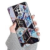 JAWSEU Compatible avec Huawei Mate 20 Lite Coque Marbre Motif Placage Silicone TPU Souple Étui Housse de Protection Ultra Mince Anti-Rayures Bumper Case Coque,#6