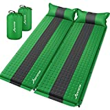 MOVTOTOP Sleeping Pad for Camping,【2021 Newest】 Foam Self-Inflating Ultralight Thicken Sleeping Mat with Attached Pillow, Perfect Gear for Hiking, Traveling and Backpacking (Self-Inflating)