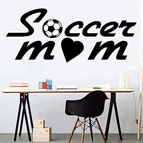 BFMBCH Moda fútbol madre pegatinas de pared accesorios de decoración del hogar decoración del hogar sala de estar dormitorio arte pegatinas de pared 43 cm X 103 cm