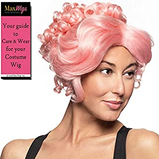 Trapeze Gibson Girl Acrobat Color Pink - Enigma Wigs Theater Musical Greatest Showman Earth Zendaya Ladies Anne 18th Century Halloween Bundle MaxWigs Costume Wig Care Guide