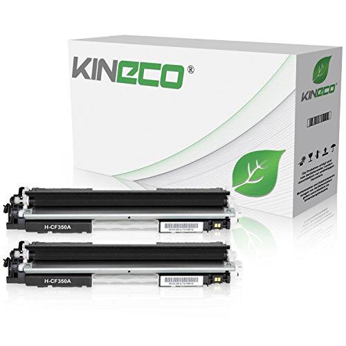 2 Kineco Toner kompatibel zu HP CF350A Color Laserjet Pro MFP M176n, M177fw, M170 Series - Schwarz je 1.300 Seiten