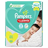 Pampers All round Protection Pants, New Born, Extra Small size baby diapers (NB/XS)