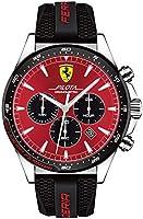 Scuderia Ferrari Orologio Cronografo Quarzo Uomo con Cinturino in Silicone 830595