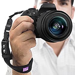 Camera Hand Strap – Rapid Fire Heavy Duty Safety Wrist Strap by Altura Photo w/ 2 Alternate Connections for Use w/ Large DSLR or Point & Shoot Cameras (2016 Update)