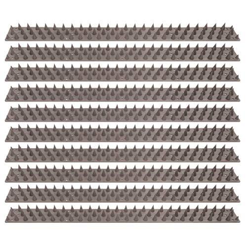 ELRO ACS77-10 Anti- Kletterschutzstreifen für Wände und Zäune-Grau-10er Packung, 10 Stück