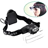 Lighted Head Magnifier Glasses Headset with Led Light...
