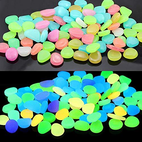 RETON 500 piedras brillantes hechas a mano para jardín, pasarela, patio y pecera, piedras decorativas (color mixto)