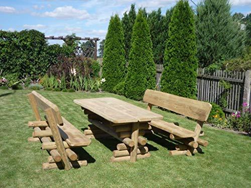 Bella Garden Rustikale Sitzgarnitur, Massive Gartengarnitur Barni