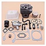 Kit de carburador de pistones de cilindro de 49 mm para For STIHL MS361 MS 361 Filtro de aceite de combustible de aire de combustible de línea de admisión de la junta de la junta de la entrada de la v