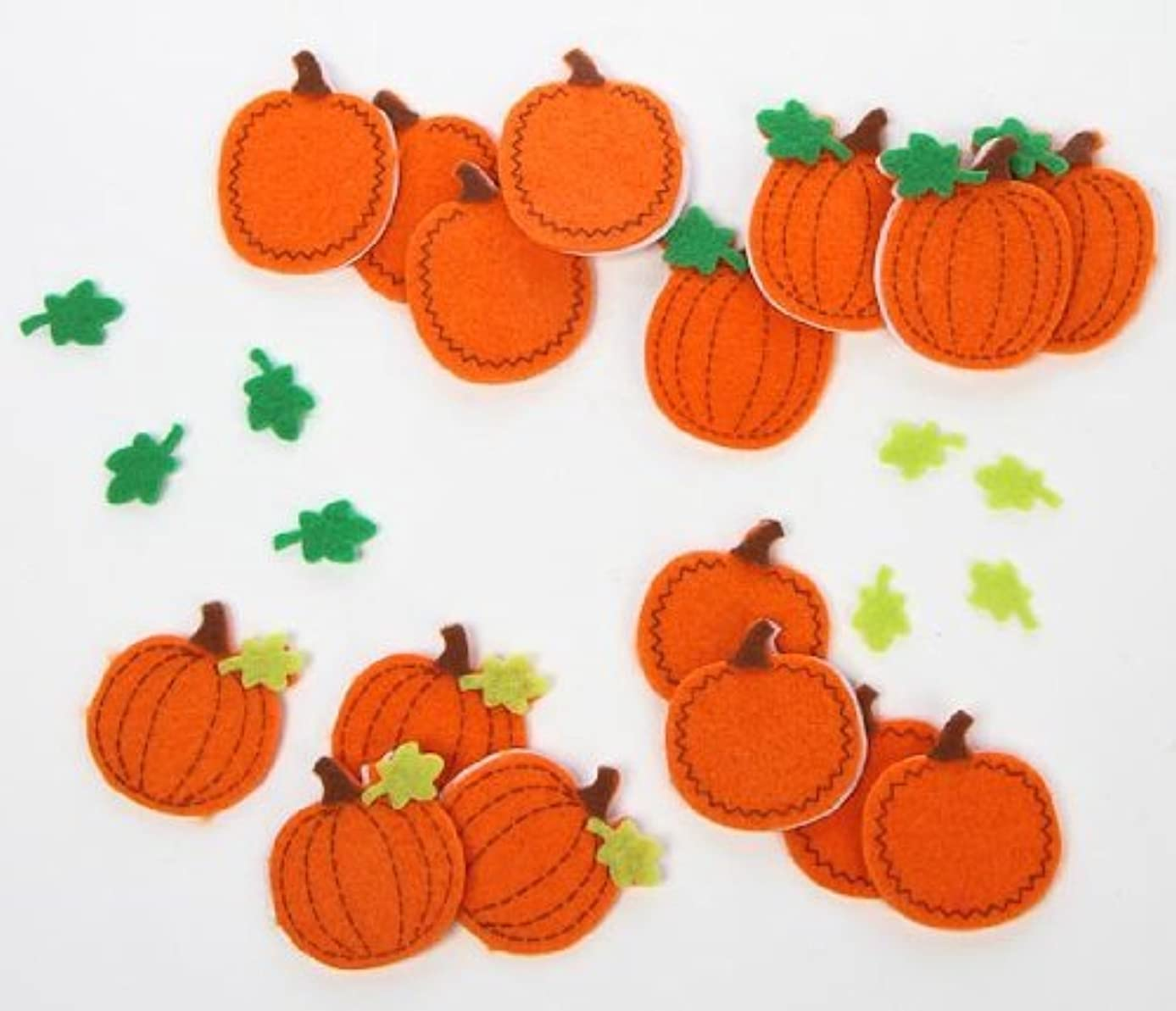 Fun Self Adhesive Dimensional Felt Falling Leaves and Pumpkins Stickers for Crafting and Embellishing- Package of 72