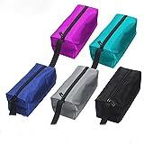 QEES Bolsa de herramientas pequeña 5 piezas de lona multiusos organizador de electricistas con cremallera 9 L x 3.2 W x 2.8 H pulgadas para regalo (GJB05) (5 colores-2)