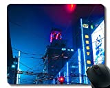 Gaming Mouse Pad Custom, Edificios de la Ciudad Arquitectura Mouse Pads con Bordes cosidos A208