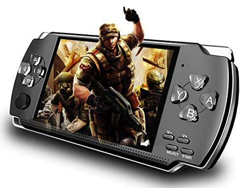 Handheld Game Console, Built-in 1200+ Classic Games 4.3'' HD Screen Retro Gaming System, Support TV Output, Portable Rechargeable Game Console with Dual Joystick, Best Gift for Kids and Adult (Medium)