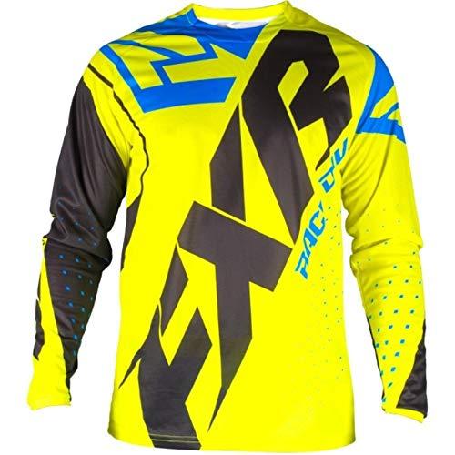 SYXYSM Motocross-Shirt, Motorradjacke, Off-Road-T-Shirt, langärmliges Shirt, Motocross-Jersey, Farbe: Weiß, Größe: S