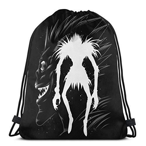 Mochila con Cordón Ink Style Dragon Night Fury Outdoor Sport Drawstring Bag Unique Anime Storage Goodie Bags...