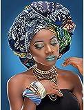 DUQA 5D Diamante dibujo Taladro completo Aduanas africanas Mujeres exóticas Pintura con diamantes Artes por número Kits Bordado DIY Craft Set Arts Decorations