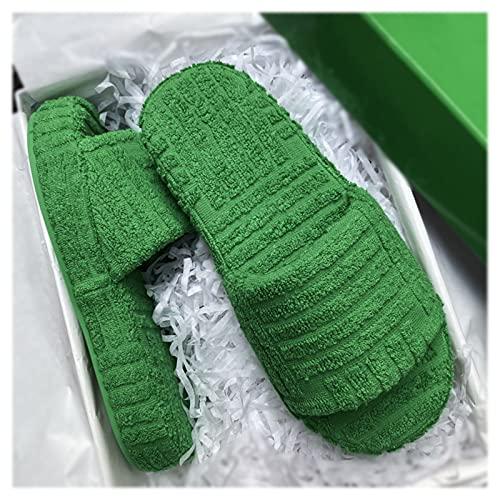 Pantuflas Zapatillas para Mujer Zapatillas De Casa con Punta Abierta para Hombre Zapatos Planos con Soporte De Arco para Mujer Espuma Viscoelástica Toalla Suave Y Cómoda para Pisar La Mierda Diseño