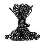 CARTMAN Ball Bungee Cords, 11-Inch Canopy Ties 30pk, Black