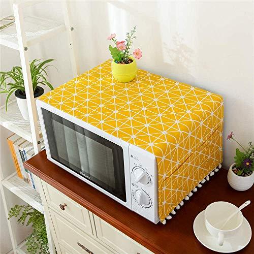 GJJSZ Toalla a Prueba de Aceite Tela Antipolvo Cubierta Antipolvo Tela para Horno microondas Tela para Horno @ Yellow_30x90cm