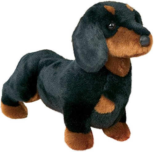 Douglas Spats Black & Tan Dachshund Dog Plush Stuffed Animal