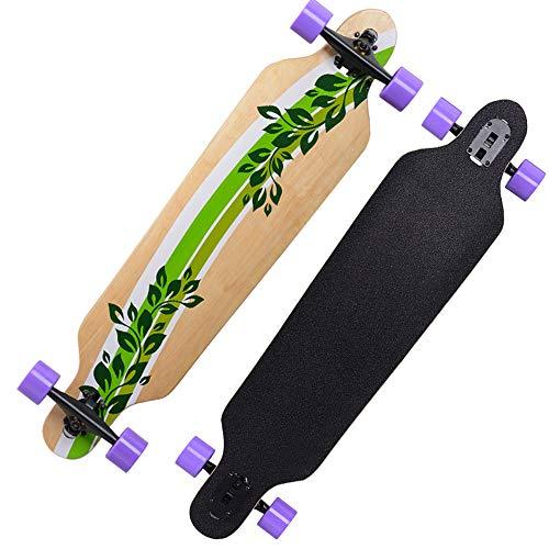 MIMI KING Longboard Skateboard 41 X 9 Zoll Professional Outdoor Für Erwachsene, Kreuzfahrt, Gratis-Stil, Abfahrt und Tanz, Thermotransfer-Druck,G