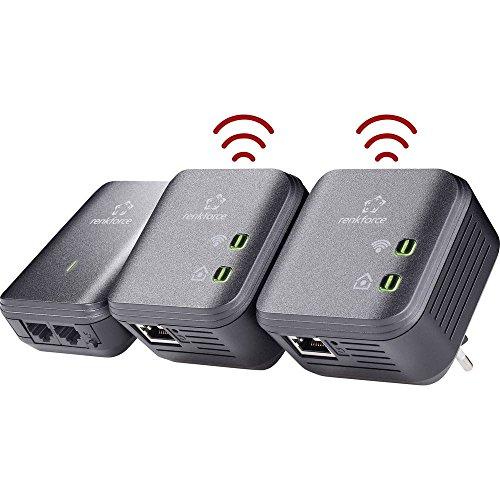 Renkforce PL500D WiFi Powerline WLAN Network Kit 500 MBit/s