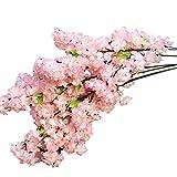 nanlai Künstlicher Kirschblütenzweig, künstliche Seidenblumen, Baum, Kunstpflanze, Heimdekoration
