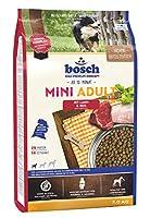 ボッシュ ミニアダルト ラム&ライス 10ヶ月以上 通常活動レベルの小型成犬用総合栄養食 全犬種用 小粒 ハイプレミアム ドッグフード 3kg