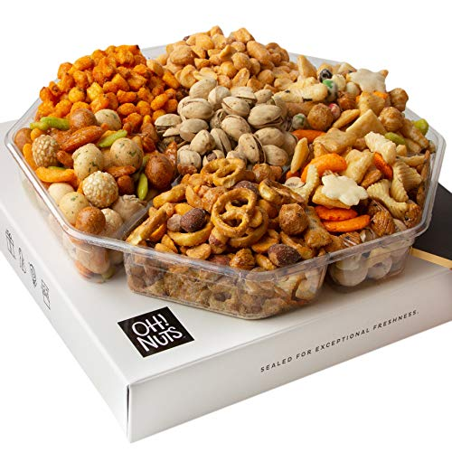 Oh! Nuts Exotic Snacks Party Assortment Food Gift Set |Christmas Holiday Basket |Unique Snack...