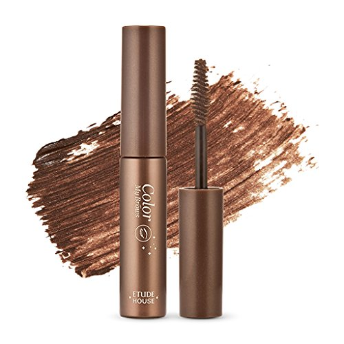 ETUDE HOUSE Color My Brows 4.5g #1 Rich Brown | Eyes Makeup | Eyebrow Mascara, Quickly Fixing Natural Eyebrow Makeup with Care Effect | Kbeauty