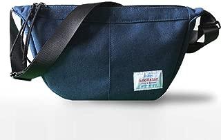 Shoulder Bag Men's Casual Sports Student Bag Oxford Cloth Messenger Bag (Blue)