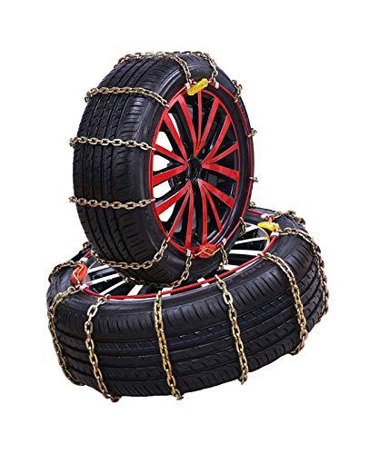 klj Cadena de Nieve de Coches Neumáticos de Emergencia Cadena de Nieve Coche Off-Road Vehículo SUV Neumático Cadenas de Nieve Fácil de Instalar (Size : 185R14C)