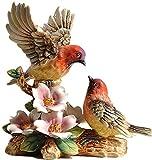 Escultura Cerámica Magpie Estatua Escultura Decoración De La Escultura Interior Romántico Decoración De Aves Inicio Oficina De Estudio Habitación TV Gabinete Pequeño Regalo De Decoración Manualidades