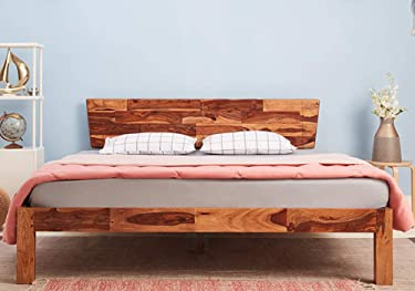 Wakefit Auriga Sheesham Bed (King Size Bed), Solid Wood Double Bed