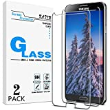 KATIN Galaxy Note 3 Screen Protector - [2-Pack] For Samsung Galaxy Note 3 Tempered Glass Bubble free, 9H Hardness with Lifetime Replacement Warranty